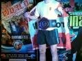 Gefreiter Bartl Florian bei der Siegerehrung mit dem Weltmeistergurt im Garde-T-Shirt