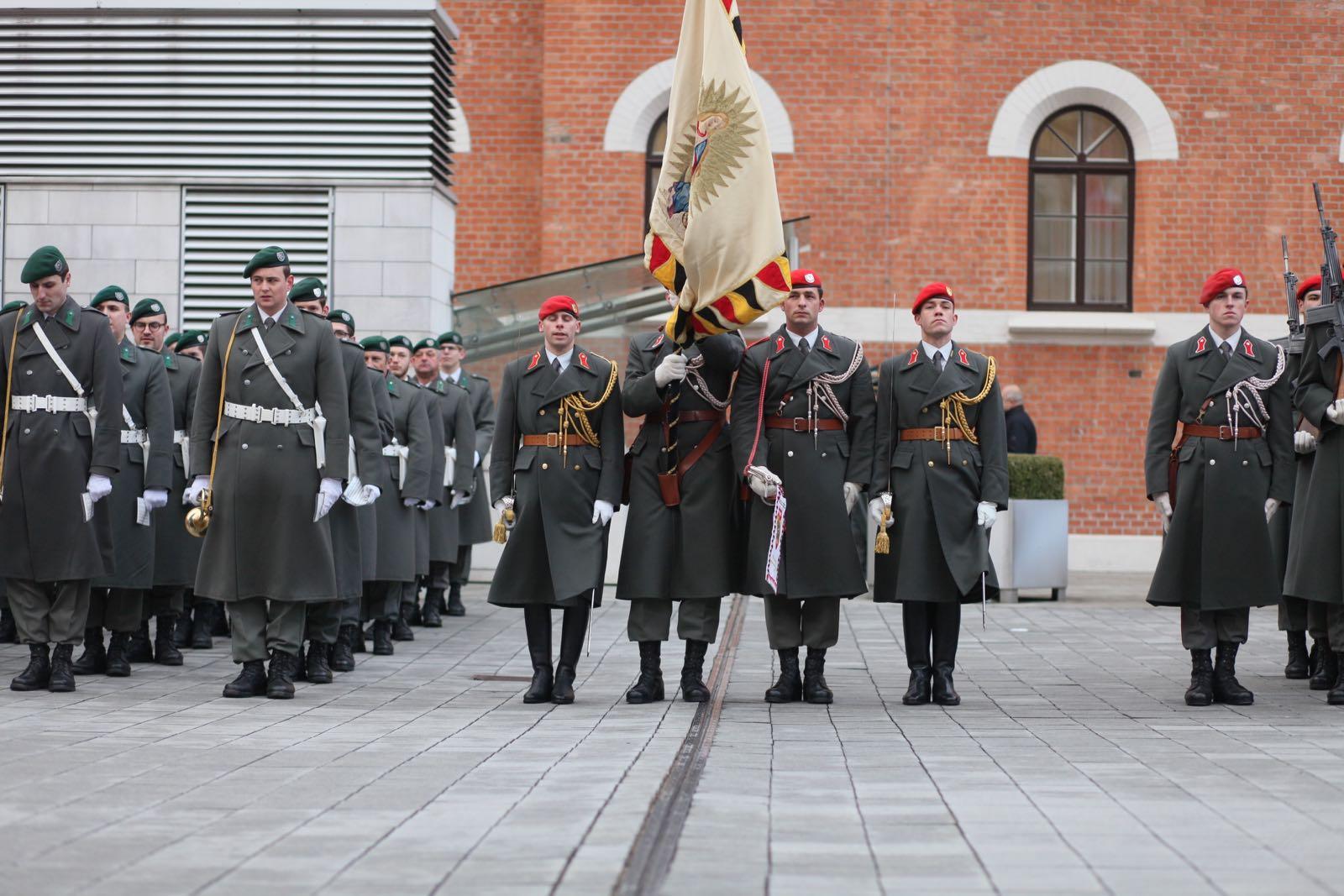 2019_01_18_1Gardekompanie_Treffen_Verteidigungsminister_DE_CHE_AUT_Rosau - 34 of 39