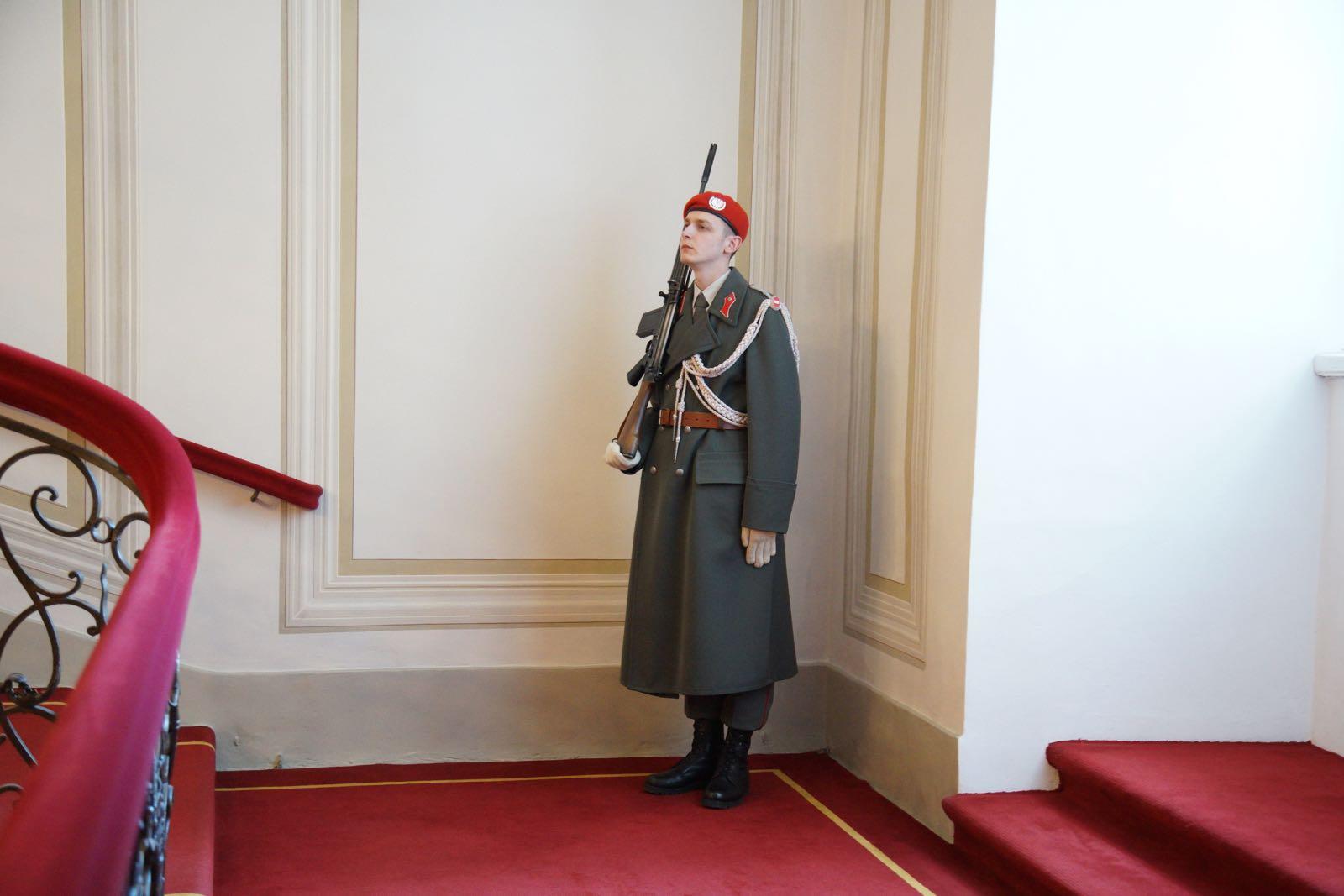 2019_03_01_4Gardekompanie_Treppenspalier_Präsidentschaftskanzlei - 7 of 9