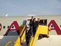 2019_03_04_4Gardekompanie_Flughafenspalier_Katar_Kneissl - 6 of 17