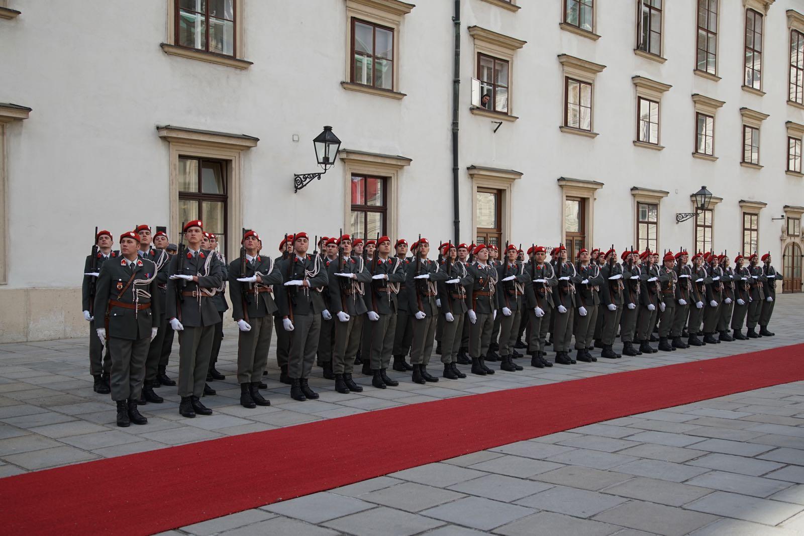 2019_03_05_4Gardekompanie_Empfang_KATAR_HBP_Hofburg - 15 of 21