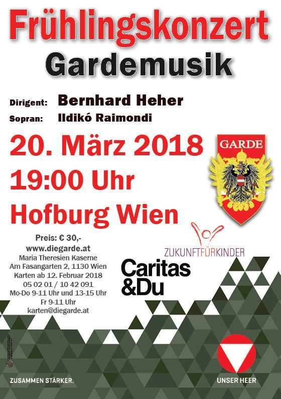 Plakat Frühlingskonzert 2018