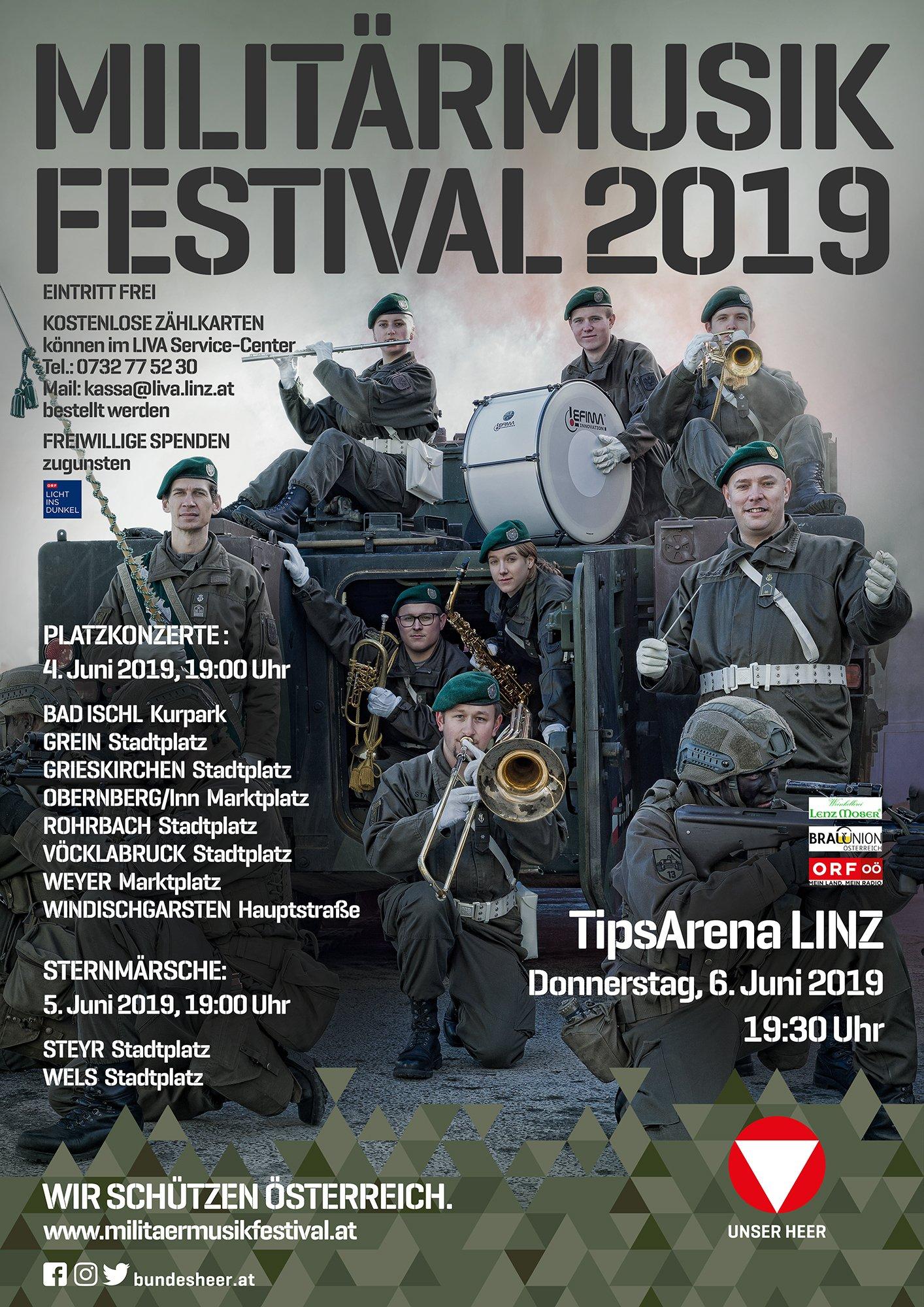 Plakat Militärmusikfestival