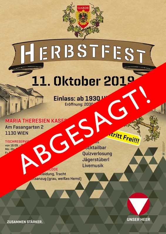 Plakat Herbstfest - Abgesagt