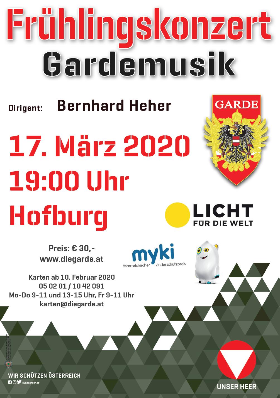 Plakat Frühlingskonzert 2020