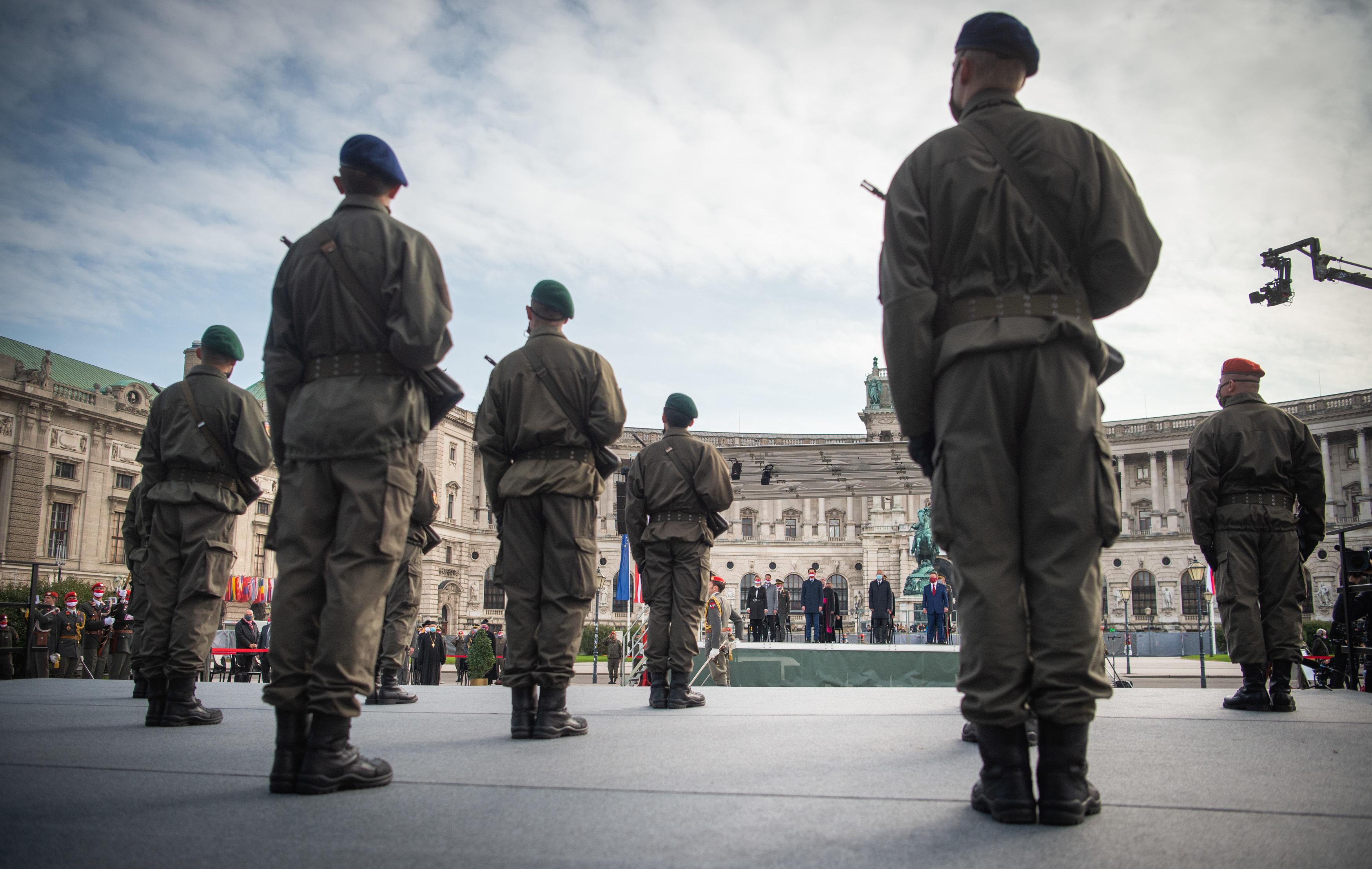 Nationalfeiertag 2020 Angelobung der Rekruten auf dem Heldenplatz