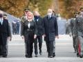 Kranzniederlegung im Weiheraum im Äußeren Burgtor mit Bundespräsident Alexander Van der Bellen und Verteidigungsministerin Klaudia Tanner